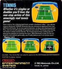 Tennis - Back | Tennis NES
