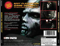 Back Of Single Disc Case | Resident Evil Director's Cut Playstation