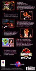 Jurassic Park Interactive - Back | Jurassic Park Interactive 3DO