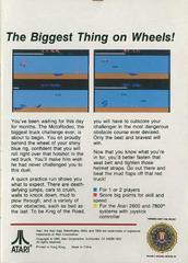 Box Back | MotoRodeo Atari 2600