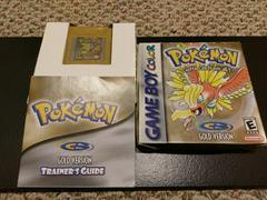 Pokemon Gold Box And Manual Front Covers | Pokemon Gold GameBoy Color