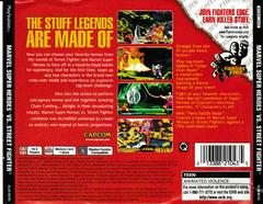 Back Of Case | Marvel Super Heroes vs. Street Fighter Playstation