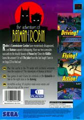 Adventures Of Batman And Robin - Back | Adventures of Batman and Robin Sega CD