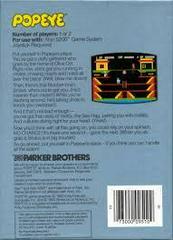 Popeye - Back | Popeye Atari 5200