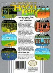 Adventures Of Bayou Billy - Back   Adventures of Bayou Billy NES