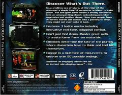 Back Of Case   Star Ocean: The Second Story Playstation