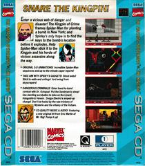 Back Of Box | Spiderman vs Kingpin Sega CD