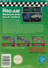 RC Pro-AM - Back | RC Pro-AM NES