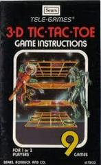 3D Tic-Tac-Toe [Tele Games]  - Instructions | 3D Tic-Tac-Toe [Tele Games] Atari 2600