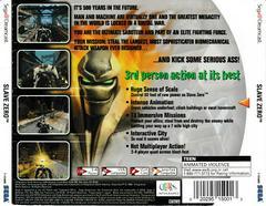 Back Of Case | Slave Zero Sega Dreamcast