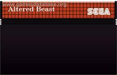 Cartridge  | Altered Beast PAL Sega Master System