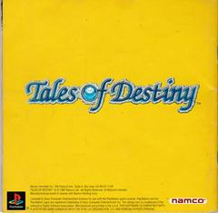 Manual - Back | Tales of Destiny Playstation