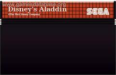 Cartridge    Aladdin PAL Sega Master System