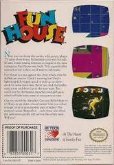 Fun House - Back | Fun House NES