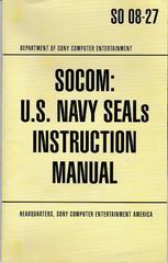 Manual - Front | SOCOM US Navy Seals Playstation 2