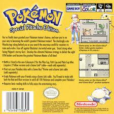 Pokemon Yellow - Back | Pokemon Yellow GameBoy