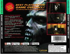 Back Of Case | Resident Evil Director's Cut [Greatest Hits] Playstation