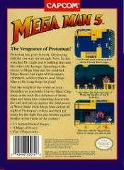 Mega Man 5 - Back | Mega Man 5 NES