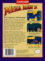 Mega Man 5 - Back   Mega Man 5 NES