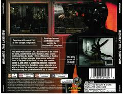 Back Of Case | Resident Evil Survivor Playstation