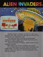 Alien Invaders - Back | Alien Invaders Arcadia 2001