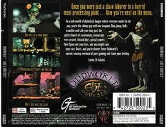 Back Of Case | Oddworld Abe's Oddysee Playstation