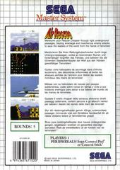 Back Cover  | Air Rescue PAL Sega Master System