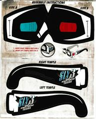 3-D Glasses Inside Manual   Sly 3 Honor Among Thieves Playstation 2