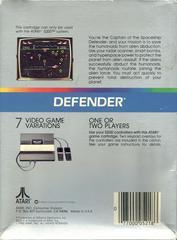 Defender - Back | Defender Atari 5200