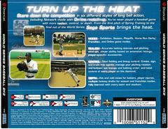 Back Of Case | World Series Baseball 2K2 Sega Dreamcast