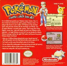 Pokemon Red - Back | Pokemon Red GameBoy