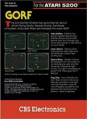 Gorf - Back | Gorf Atari 5200