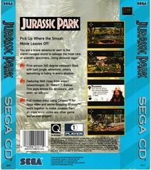 Back Of Box | Jurassic Park Sega CD
