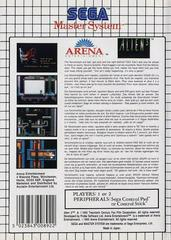 Back Cover  | Alien 3 PAL Sega Master System