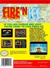 Fire 'N Ice - Back | Fire 'N Ice NES