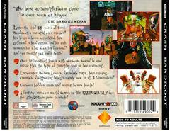 Back Of Case | Crash Bandicoot Playstation