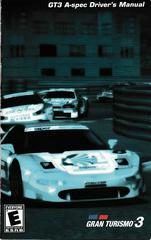 Manual - Front | Gran Turismo 3 Playstation 2
