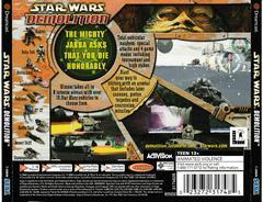 Back Of Case | Star Wars Demolition Sega Dreamcast