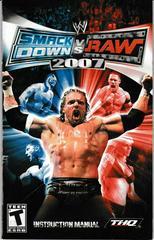 Manual - Front | WWE Smackdown vs. Raw 2007 Playstation 2