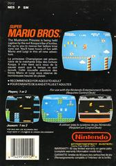 Super Mario Bros. - Back | Super Mario Bros NES