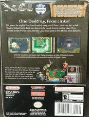 Back Of Box | Zelda Four Swords Adventures [Cable Bundle] Gamecube