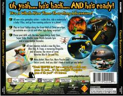 Back Of Case | Crash Bandicoot Warped Playstation