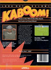 Kaboom! - Back | Kaboom! Atari 5200