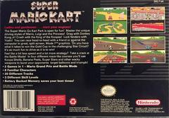 Box Back | Super Mario Kart Super Nintendo