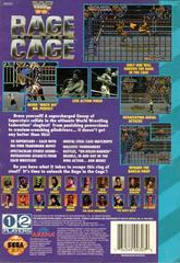 WWF Rage In The Cage - Back   WWF Rage in the Cage Sega CD
