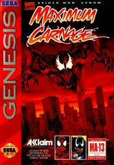 Spiderman Maximum Carnage [Cardboard Box] Sega Genesis Prices