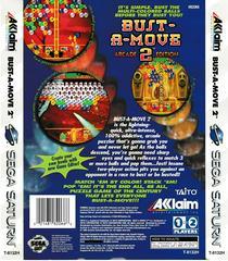 Back Of Box   Bust-a-Move 2 Arcade Edition Sega Saturn
