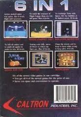 Caltron 6-In-1- Back | Caltron 6-in-1 NES
