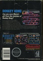 Donkey Kong - Back | Donkey Kong NES