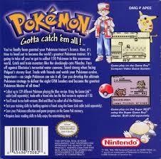 Pokemon Blue - Back | Pokemon Blue GameBoy